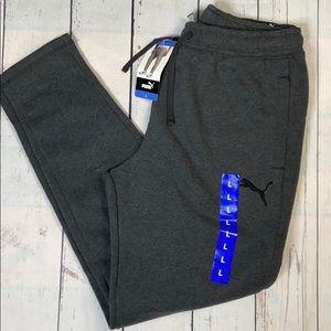 Puma Gray Mens Sweat Pants Fleece Interior S M L